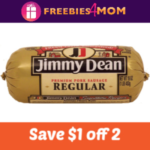 Save $1/2 Jimmy Dean Sausage Products