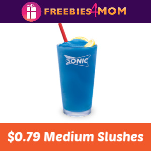 $0.79 Slushes at Sonic April 24