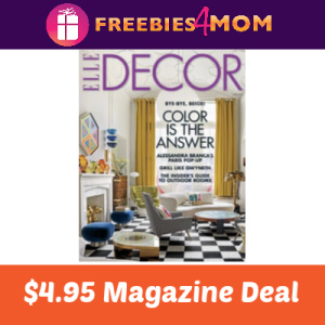 Magazine Deal: Elle Decor $4.95