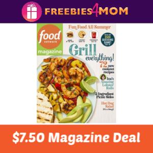 Magazine Deal: Food Network $7.50