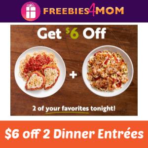 $6 off 2 Dinner Entrées at Olive Garden