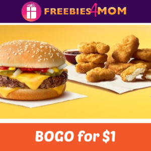 BOGO for $1 at McDonald's