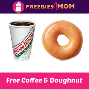 Free Coffee & Doughnut at Krispy Kreme Sept. 29