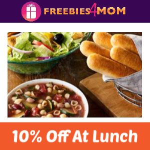 10% Off Any Entrée At Lunch