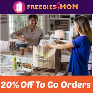 Save 20% Off Olive Garden Online Orders