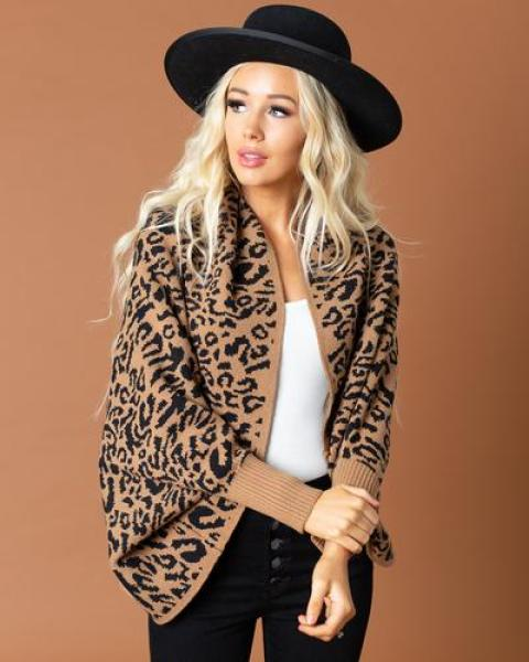 40% off Leopard Cardigans & Outerwear