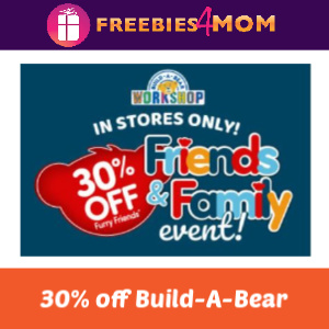 30% Off Furry Friends at Build-A-Bear