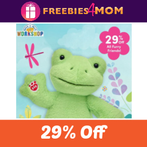 29% Off Furry Friends at Build-A-Bear 2/28-29