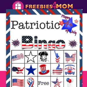 ⭐️Free Printable 4th of July Bingo Game