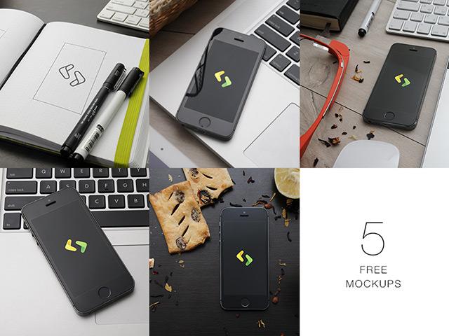 5 PSD iPhone 5 mockups
