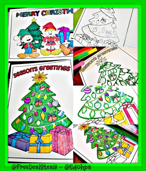 Holiday Coloring Cards Progress