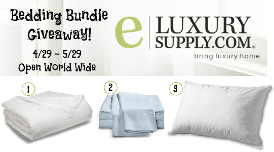 Spring Bedding Bundle #Giveaway from @eLuxurySupply!