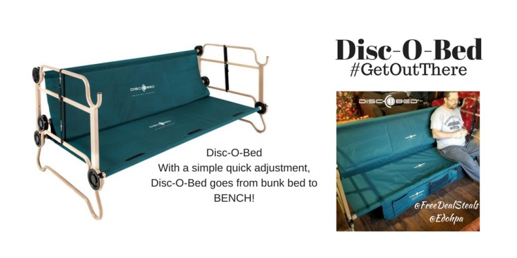 Disc O Bed Bunkable Cot System Getoutthere My Freebies Deals Steals
