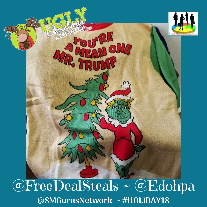 Ugly Christmas Sweaters Trump Grinch