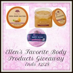 Ellen's Favorite Body Products