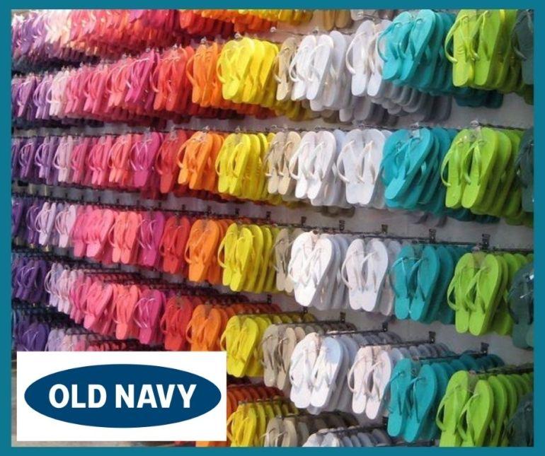 Old Navy Flip Flop Display
