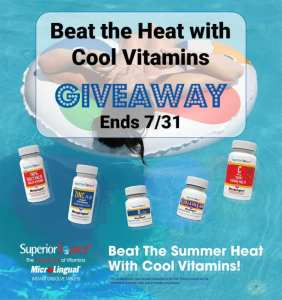 Beat the Heat with Cool Vitamins Giveaway