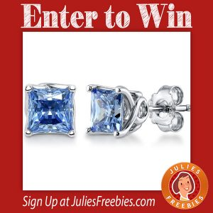 Win Swarovski Zirconia Solitaire Earrings