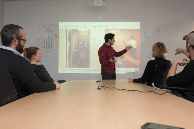 Get an Ideapaint Sample of Dry Erase Wall Covering for Free