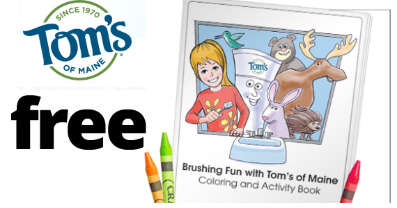 free coloring book from toms of maine - Free Coloring Books By Mail