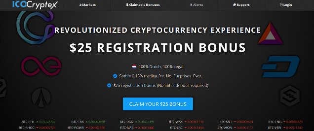 Get $25 Account Bonus for Joining IcoCryptex Virtual Currency Exchange