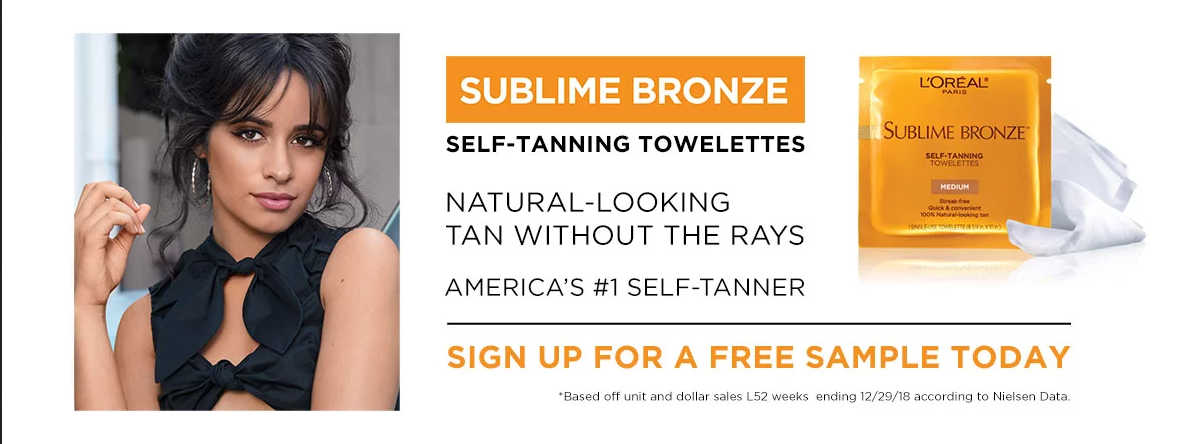 Get a Free L'Oreal Sublime Bronze Tanning Towelette Sample (US Only)