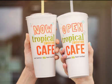 Free 16 oz. Sunshine Smoothie at Tropical Smoothie Cafe on National Flip Flop Day