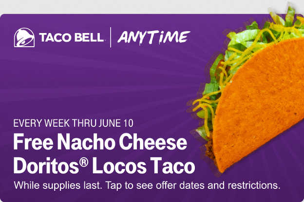 T-Mobile Tuesdays Deals – Free Nacho Cheese Doritos Locos Taco, Free Dunkin Latte, and More
