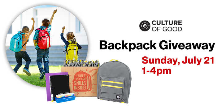 Free Backpacks with School Supplies at Participating Verizon Wireless Zones
