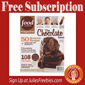 Free Food Network Magazine Subscription
