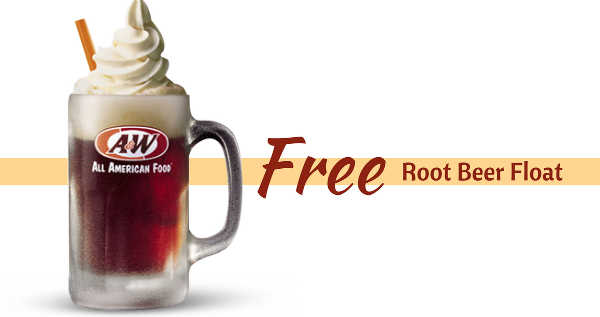 Free Root Beer on National Root Beer Float Day at A&W
