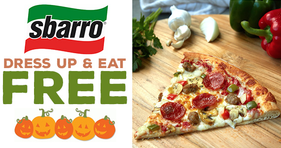 Free Slice of Pizza From Sbarro – Today Only