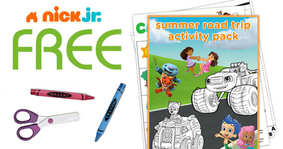 Free Summer Road Trip Activity Book From Nick Jr.