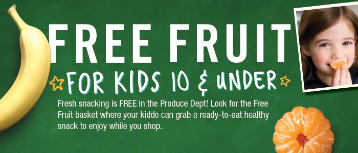 Free Fruit for Kids at Giant Eagle
