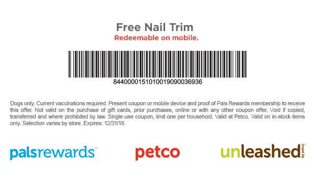Take Your Dog for a Free Nail Trim at Palsrewards, Petco, or Unleashed