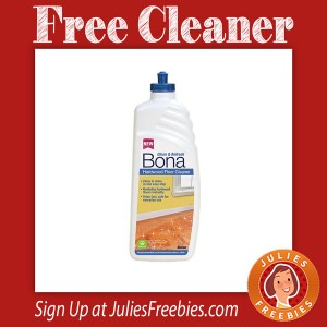 Free Bona Hardwood Cleaner