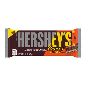 Free HERSHEY'S Milk Chocolate with Reese's Pieces Candy Bar (1.55 oz.) on Kroger Friday Download This Week