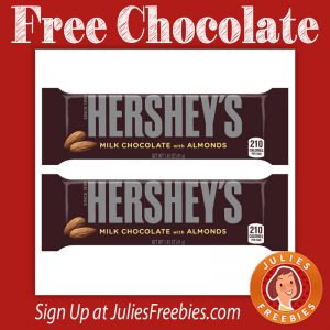 Free Hershey's Milk Chocolate with Almonds at Kroger