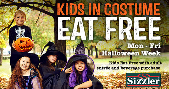 Kids Eat Free Today At Sizzler