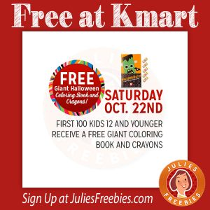 Free Coloring Book at Kmart on 10/22