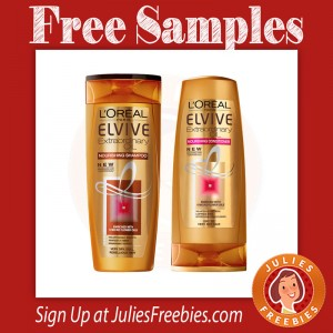 Free L'Oreal Extraordinary Oil Hair Care Samples