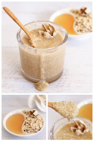 oatmeal honey scrub