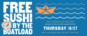 Free Spicy Tuna Roll or California Roll at P.F. Chang's on Thursday, Oct 27