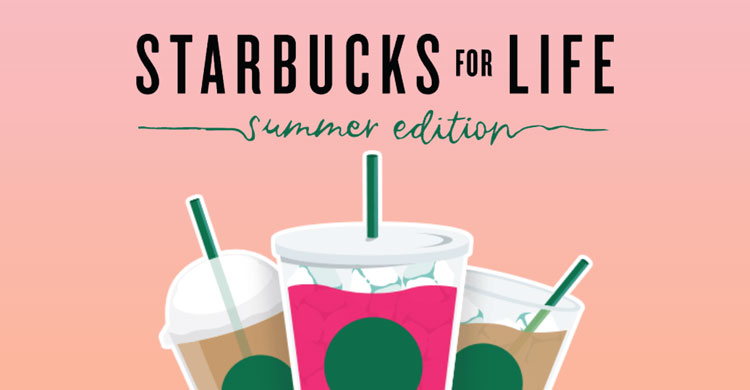 Starbucks for Life Summer Edition Instant Win Game