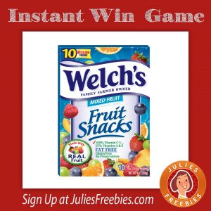 Welch's Fruit Snacks Six Flags Instant Win Game
