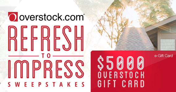 Win a $5,000 Overstock Gift Card