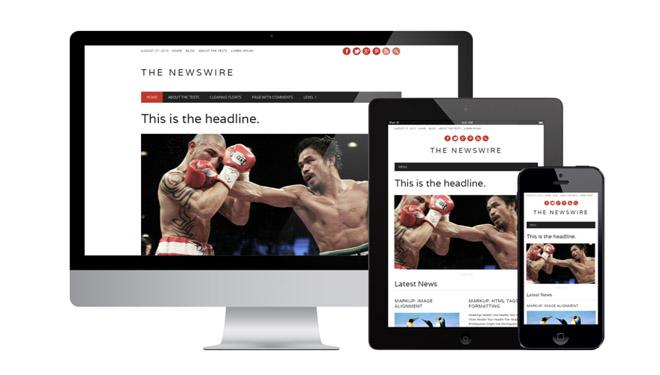 Newswire: Free Responsive News WordPress Theme