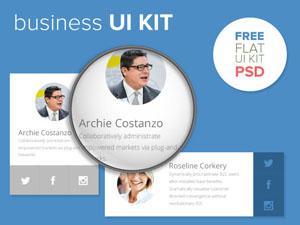 Flat Business UI KIT PSD
