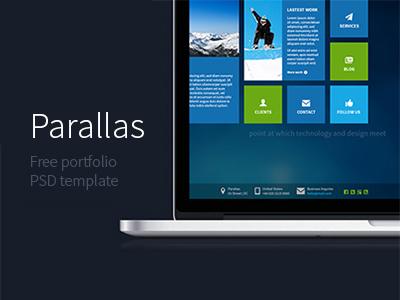 Parallas : Free Portfolio PSD Template