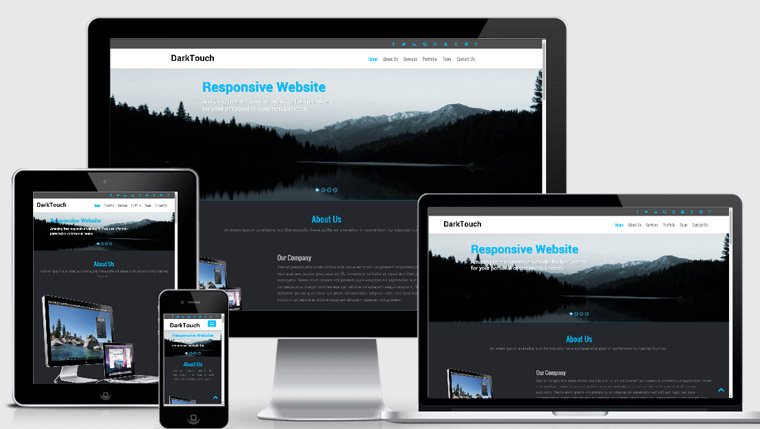Dark Touch : Free Corporate Bootstrap Template